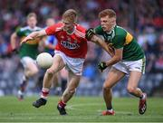 18 July 2019; Damien Gore of Cork in action against Niall Donohue of Kerry during the EirGrid Munster GAA Football U20 Championship Final match between Cork and Kerry at Páirc Ui Rinn in Cork. Photo by Matt Browne/Sportsfile