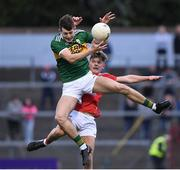 18 July 2019; Adam Donoghue of Kerry in action against Gearoid O'Donovan of Cork during the EirGrid Munster GAA Football U20 Championship Final match between Cork and Kerry at Páirc Ui Rinn in Cork. Photo by Matt Browne/Sportsfile
