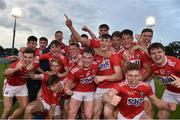 18 July 2019; Cork players celebrate after the EirGrid Munster GAA Football U20 Championship Final match between Cork and Kerry at Páirc Ui Rinn in Cork. Photo by Matt Browne/Sportsfile