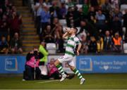 18 July 2019; Jack Byrne of Shamrock Rovers celebrates after scoring his side's first goal during the UEFA Europa League First Qualifying Round 2nd Leg match between Shamrock Rovers and SK Brann at Tallaght Stadium in Dublin. Photo by Seb Daly/Sportsfile
