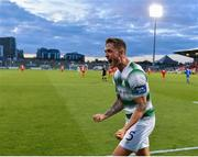 18 July 2019; Lee Grace of Shamrock Rovers celebrates following his side's first goal during the UEFA Europa League First Qualifying Round 2nd Leg match between Shamrock Rovers and SK Brann at Tallaght Stadium in Dublin. Photo by Seb Daly/Sportsfile