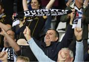 17 July 2019; Dundalk supporters celebrate following the UEFA Champions League First Qualifying Round 2nd Leg match between Riga and Dundalk at Skonto Stadium in Riga, Latvia. Photo by Roman Koksarov/Sportsfile