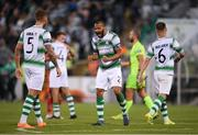18 July 2019; Ethan Boyle of Shamrock Rovers celebrrates following the UEFA Europa League First Qualifying Round 2nd Leg match between Shamrock Rovers and SK Brann at Tallaght Stadium in Dublin. Photo by Eóin Noonan/Sportsfile