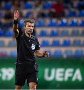 18 July 2019; Referee Kristo Tohver during the 2019 UEFA European U19 Championships Group B match between Republic of Ireland and France at Banants Stadium in Yerevan, Armenia. Photo by Stephen McCarthy/Sportsfile
