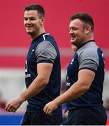 19 July 2019; Jonathan Sexton, left, and Dave Kilcoyne during an Ireland Rugby open training session at Thomond Park in Limerick. Photo by David Fitzgerald/Sportsfile