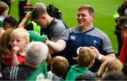 19 July 2019; Tadhg Furlong, right, and Garry Ringrose sign autographs for fans following an Ireland Rugby open training session at Thomond Park in Limerick. Photo by David Fitzgerald/Sportsfile