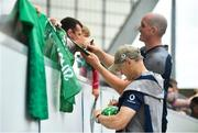 19 July 2019; Ireland head coach Joe Schmidt signs autographs for fans following an Ireland Rugby open training session at Thomond Park in Limerick. Photo by David Fitzgerald/Sportsfile