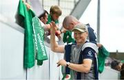 19 July 2019; Ireland head coach Joe Schmidt meets fans following an Ireland Rugby open training session at Thomond Park in Limerick. Photo by David Fitzgerald/Sportsfile