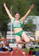 19 July 2019; Kate O'Connor of Ireland competing in the Women's Heptathlon Long Jump during Day Two of the European Athletics U20 Championships in Borås, Sweden. Photo by Giancarlo Colombo/Sportsfile
