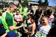 19 July 2019; Joe Hodge during a Republic of Ireland players and staff visit to the Children and Youth Technical Creativity Center of Ajapnyak at the 2019 UEFA European U19 Championships in Yerevan, Armenia. Photo by Stephen McCarthy/Sportsfile