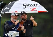 19 July 2019; Shane Lowry of Ireland and his caddy Brian Martin on the 12th tee box during Day Two of the 148th Open Championship at Royal Portrush in Portrush, Co Antrim. Photo by Brendan Moran/Sportsfile
