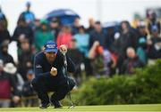 19 July 2019; Padraig Harrington of Ireland lines up a putt on the 12th green during Day Two of the 148th Open Championship at Royal Portrush in Portrush, Co Antrim. Photo by Ramsey Cardy/Sportsfile