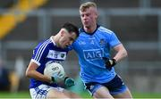 19 July 2019; Alan Kinsella of Laois in action against Eoin O'Dea of Dublin during the EirGrid Leinster GAA Football U20 Championship Final match between Laois and Dublin at Bord na Móna O'Connor Park in Tullamore, Co Offaly. Photo by Piaras Ó Mídheach/Sportsfile