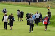 19 July 2019; Rory McIlroy of Northern Ireland acknowledges the gallery as he walks to the 18th green during Day Two of the 148th Open Championship at Royal Portrush in Portrush, Co Antrim. Photo by Brendan Moran/Sportsfile