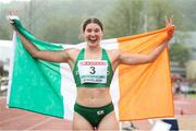 19 July 2019; Kate O'Connor of Ireland after finishing second in the Women's Heptathlon during Day Two of the European Athletics U20 Championships in Borås, Sweden. Photo by Giancarlo Colombo/Sportsfile