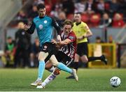 19 July 2019; Johnny Dunleavy of Sligo Rovers in action against Greg Sloggett of Derry City during the SSE Airtricity League Premier Division match between Derry City and Sligo Rovers at Ryan McBride Brandywell Stadium in Derry. Photo by Oliver McVeigh/Sportsfile