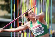 19 July 2019; Kate O'Connor of Ireland competing in the Women's Heptathlon Javelin Throw during Day Two of the European Athletics U20 Championships in Borås, Sweden. Photo by Giancarlo Colombo/Sportsfile