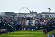 20 July 2019; Shane Lowry of Ireland  tees off from the 1st tee box during Day Three of the 148th Open Championship at Royal Portrush in Portrush, Co Antrim. Photo by Brendan Moran/Sportsfile