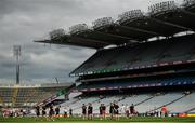 20 July 2019; Players from both sides walk the pitch prior to the GAA Football All-Ireland Senior Championship Quarter-Final Group 2 Phase 2 match between Cork and Tyrone at Croke Park in Dublin. Photo by David Fitzgerald/Sportsfile