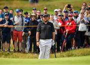 20 July 2019; Shane Lowry of Ireland watches his 3rd shot on the 2nd hole during Day Three of the 148th Open Championship at Royal Portrush in Portrush, Co Antrim. Photo by Brendan Moran/Sportsfile