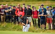 20 July 2019; Shane Lowry of Ireland chips onto the 2nd green during Day Three of the 148th Open Championship at Royal Portrush in Portrush, Co Antrim. Photo by Brendan Moran/Sportsfile