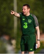 20 July 2019; Republic of Ireland head coach Tom Mohan during a training session ahead of their final group game of the 2019 UEFA European U19 Championships at the FFA Technical Centre in Yerevan, Armenia. Photo by Stephen McCarthy/Sportsfile