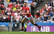 20 July 2019; Luke Connolly of Cork celebrates after scoring his side's first goal during the GAA Football All-Ireland Senior Championship Quarter-Final Group 2 Phase 2 match between Cork and Tyrone at Croke Park in Dublin. Photo by David Fitzgerald/Sportsfile