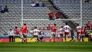 20 July 2019; Luke Connolly of Cork, 15, turns to celebrate a goal, in the first minute, during the GAA Football All-Ireland Senior Championship Quarter-Final Group 2 Phase 2 match between Cork and Tyrone at Croke Park in Dublin. Photo by Ray McManus/Sportsfile