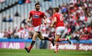 20 July 2019; Luke Connolly of Cork, left, celebrates after scoring his side's first goal with team-mate Ian Magure during the GAA Football All-Ireland Senior Championship Quarter-Final Group 2 Phase 2 match between Cork and Tyrone at Croke Park in Dublin. Photo by David Fitzgerald/Sportsfile