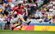 20 July 2019; James Loughrey of Cork scores his side's second goal during the GAA Football All-Ireland Senior Championship Quarter-Final Group 2 Phase 2 match between Cork and Tyrone at Croke Park in Dublin. Photo by David Fitzgerald/Sportsfile