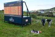 20 July 2019; JB Holmes of USA with a Rules Official on the 5th hole during Day Three of the 148th Open Championship at Royal Portrush in Portrush, Co Antrim. Photo by Brendan Moran/Sportsfile
