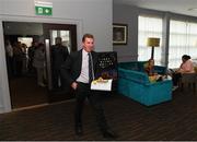 20 July 2019; Former FAI Board member and head of SFAI, John Earley, arrives ahead of the FAI EGM at Dunboyne Castle in Dunboyne, Co. Meath. Photo by Eóin Noonan/Sportsfile