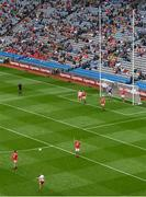 20 July 2019; Peter Harte of Tyrone kicks a point during the GAA Football All-Ireland Senior Championship Quarter-Final Group 2 Phase 2 match between Cork and Tyrone at Croke Park in Dublin. Photo by Seb Daly/Sportsfile