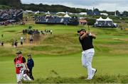 20 July 2019; Shane Lowry of Ireland plays from the rough on the 10th hole during Day Three of the 148th Open Championship at Royal Portrush in Portrush, Co Antrim. Photo by Brendan Moran/Sportsfile