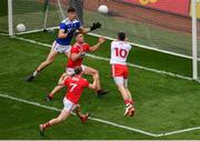 20 July 2019; Matthew Donnelly of Tyrone sees his effort on goal saved by Mark White of Cork during the GAA Football All-Ireland Senior Championship Quarter-Final Group 2 Phase 2 match between Cork and Tyrone at Croke Park in Dublin. Photo by Seb Daly/Sportsfile