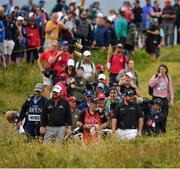 20 July 2019; Shane Lowry of Ireland and JB Holmes of USA makes their way to the 13th green during Day Three of the 148th Open Championship at Royal Portrush in Portrush, Co Antrim. Photo by Brendan Moran/Sportsfile