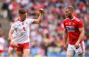 20 July 2019; Conor Meyler of Tyrone celebrates a late score during the GAA Football All-Ireland Senior Championship Quarter-Final Group 2 Phase 2 match between Cork and Tyrone at Croke Park in Dublin. Photo by David Fitzgerald/Sportsfile