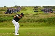 20 July 2019; Shane Lowry of Ireland hits a tee shot on the 13th during Day Three of the 148th Open Championship at Royal Portrush in Portrush, Co Antrim. Photo by Ramsey Cardy/Sportsfile