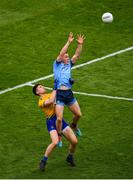 20 July 2019; Con O'Callaghan of Dublin in action against Conor Daly of Roscommon during the GAA Football All-Ireland Senior Championship Quarter-Final Group 2 Phase 2 match between Dublin and Roscommon at Croke Park in Dublin. Photo by Seb Daly/Sportsfile