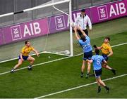20 July 2019; Dean Rock of Dublin scores his side's first goal of the game during the GAA Football All-Ireland Senior Championship Quarter-Final Group 2 Phase 2 match between Dublin and Roscommon at Croke Park in Dublin. Photo by Seb Daly/Sportsfile