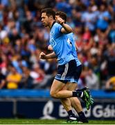 20 July 2019; Dean Rock of Dublin after scoring his side's first goal, in the 15th minute, during the GAA Football All-Ireland Senior Championship Quarter-Final Group 2 Phase 2 match between Dublin and Roscommon at Croke Park in Dublin. Photo by Ray McManus/Sportsfile