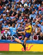 20 July 2019; Conor Cox of Roscommon in action against Jonny Cooper of Dublin during the GAA Football All-Ireland Senior Championship Quarter-Final Group 2 Phase 2 match between Dublin and Roscommon at Croke Park in Dublin. Photo by David Fitzgerald/Sportsfile