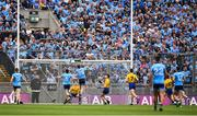 20 July 2019; Dean Rock of Dublin (25) shoots to score his side's first goal during the GAA Football All-Ireland Senior Championship Quarter-Final Group 2 Phase 2 match between Dublin and Roscommon at Croke Park in Dublin. Photo by David Fitzgerald/Sportsfile