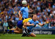 20 July 2019; Ciaran Kilkenny of Dublin in action against Sean Mullooly of Roscommon  during the GAA Football All-Ireland Senior Championship Quarter-Final Group 2 Phase 2 match between Dublin and Roscommon at Croke Park in Dublin. Photo by Ray McManus/Sportsfile