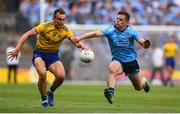 20 July 2019; Enda Smith of Roscommon in action against Brian Howard of Dublin during the GAA Football All-Ireland Senior Championship Quarter-Final Group 2 Phase 2 match between Dublin and Roscommon at Croke Park in Dublin. Photo by David Fitzgerald/Sportsfile