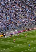 20 July 2019; Dean Rock of Dublin kicks a point during the GAA Football All-Ireland Senior Championship Quarter-Final Group 2 Phase 2 match between Dublin and Roscommon at Croke Park in Dublin. Photo by Seb Daly/Sportsfile