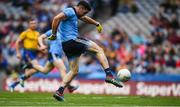 20 July 2019; Michael Darragh MacAuley of Dublin shoots to score his side's second goal during the GAA Football All-Ireland Senior Championship Quarter-Final Group 2 Phase 2 match between Dublin and Roscommon at Croke Park in Dublin. Photo by David Fitzgerald/Sportsfile