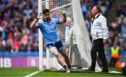 20 July 2019; Michael Darragh MacAuley of Dublin after scoring his side's second goal during the GAA Football All-Ireland Senior Championship Quarter-Final Group 2 Phase 2 match between Dublin and Roscommon at Croke Park in Dublin. Photo by David Fitzgerald/Sportsfile