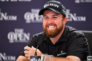 20 July 2019; Shane Lowry of Ireland during a press conference after finsishing his round on Day Three of the 148th Open Championship at Royal Portrush in Portrush, Co Antrim. Photo by Brendan Moran/Sportsfile