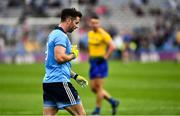 20 July 2019; Michael Darragh MacAuley of Dublin leaves the field after being shown a Black Card during the GAA Football All-Ireland Senior Championship Quarter-Final Group 2 Phase 2 match between Dublin and Roscommon at Croke Park in Dublin. Photo by Ray McManus/Sportsfile